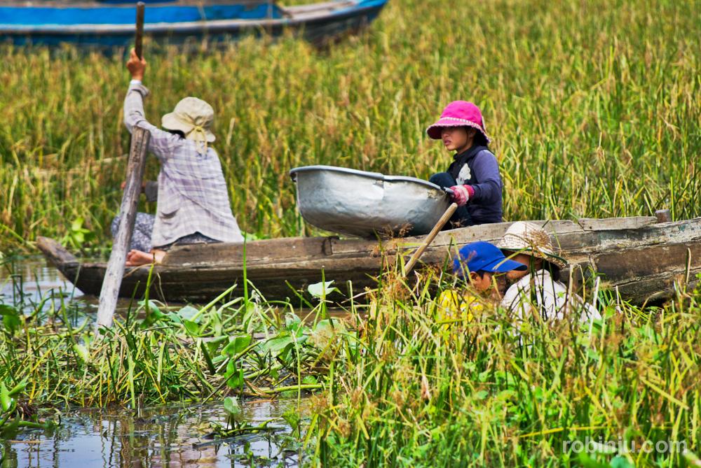Chong Kneas, el pueblo flotante de los pescadores vietnamitas en Camboya