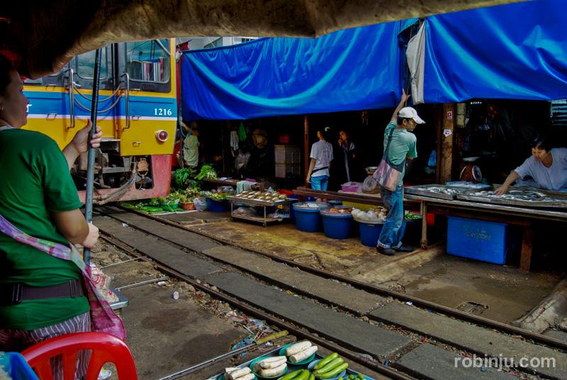 mercado de Maeklong Tailandia