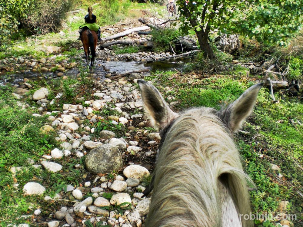 Un paseo a caballo en Eljas, Cáceres