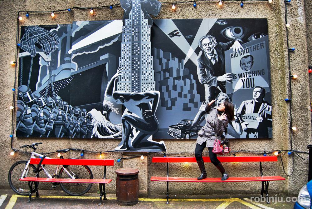 Otro tipo de murales en Belfast