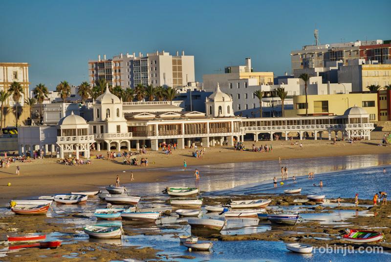 Atardecer playa de la caleta, Cádiz