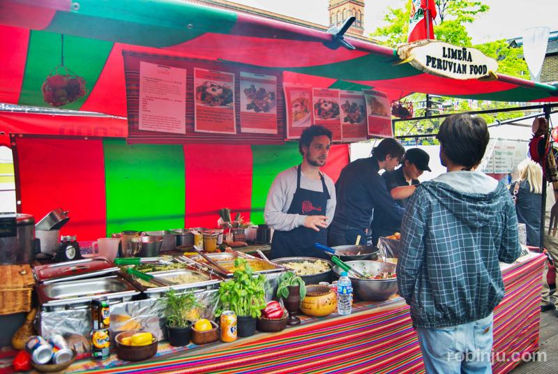 Comidas del mundo en Camden Market