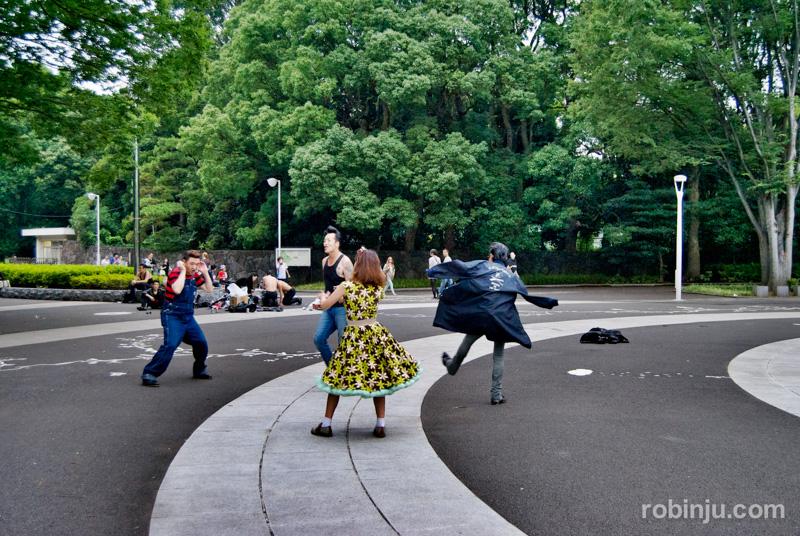 Yoyogi Park rock 02