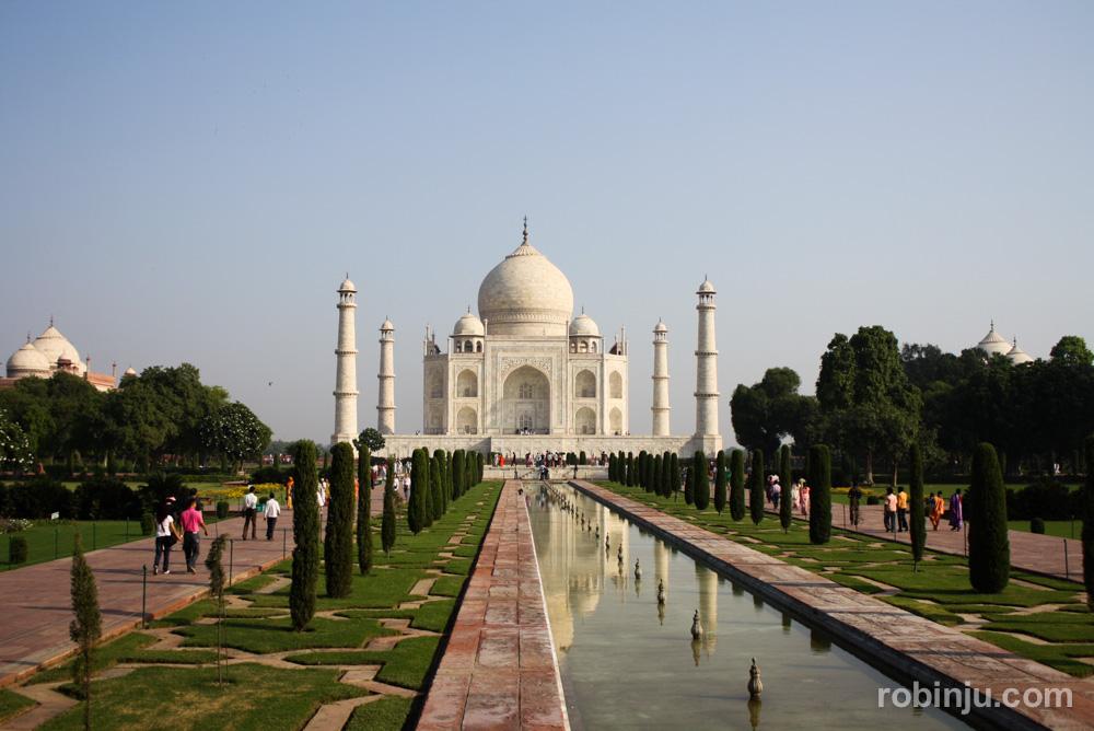 Amanecer en el Taj Mahal, Agra
