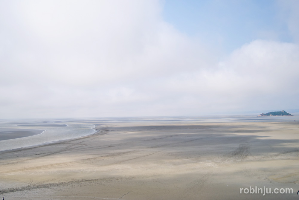 Y llega la marea en MontSaintMichel