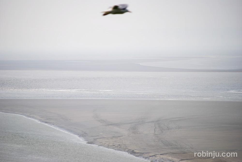 Y llega la marea en Mont Saint Michel