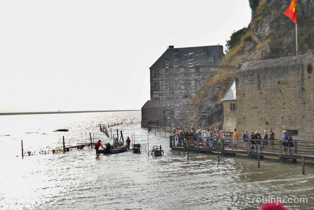 Y llega la marea a Mont St Michel
