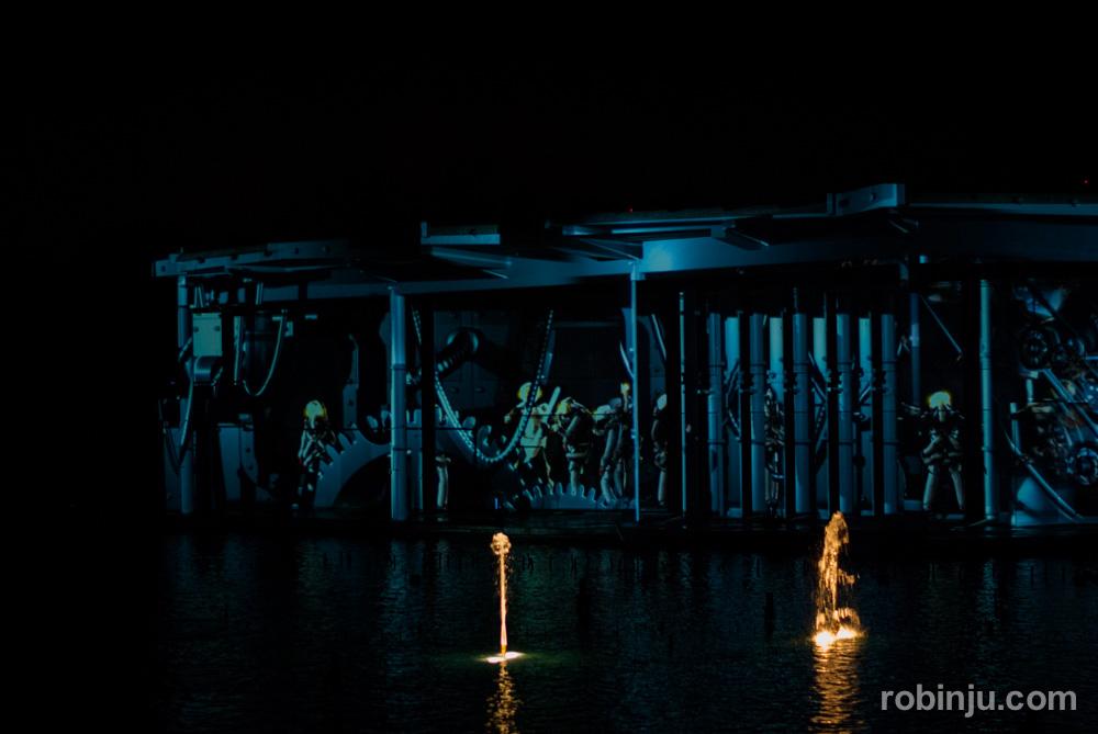 El espectaculo nocturno de Futuroscope