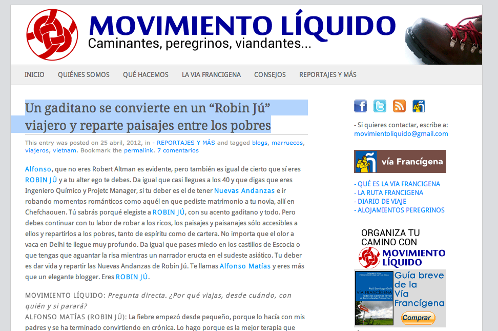 Robin Jú en movimiento líquido