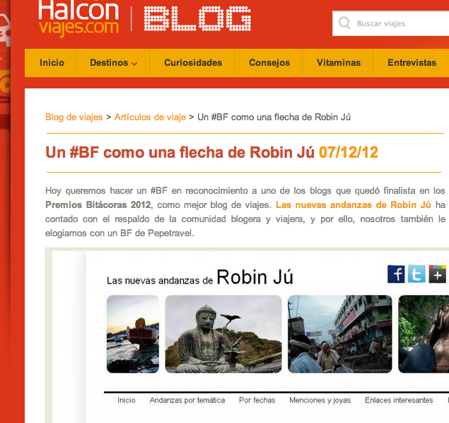 ROBIN Ju en Halcon viajes
