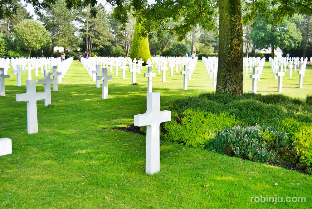 Cementerio americano de Normandia en Coleville-sur-Mer