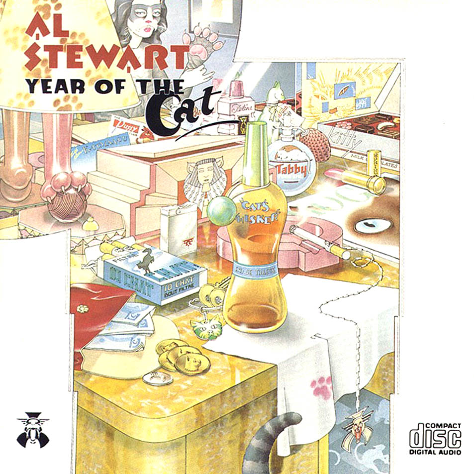 "Portada de ""Year of the cat"" . Diseño de Colin Elgie."