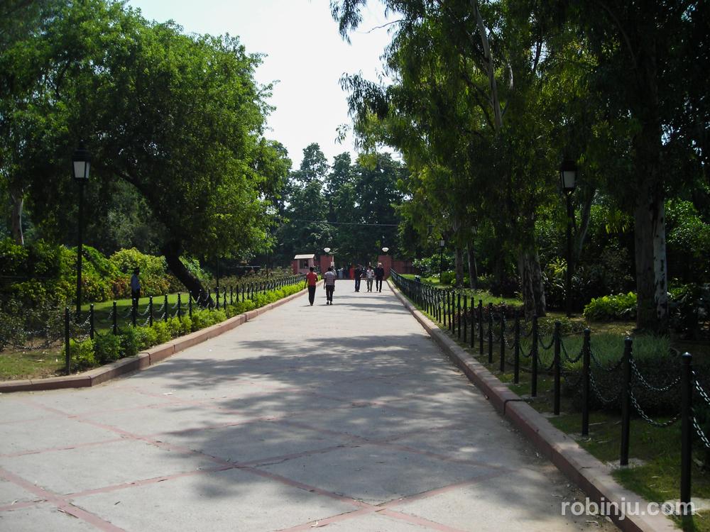 Raj Ghat, el memorial de Mahatma Gandhi