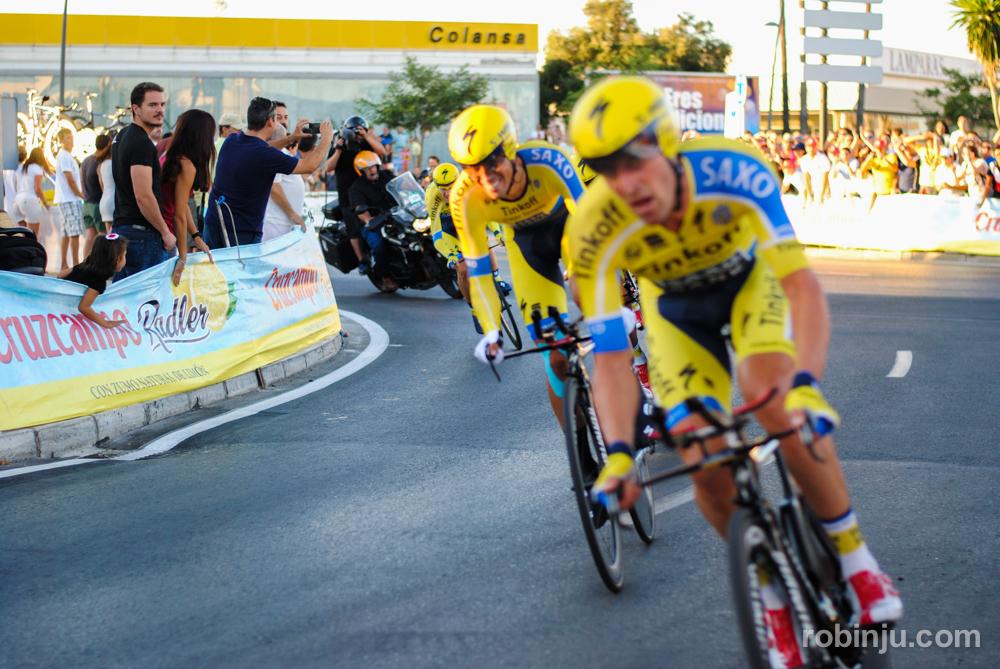 Alberto vuelve a sonreír...(Vuelta a España - Jerez de la Frontera)