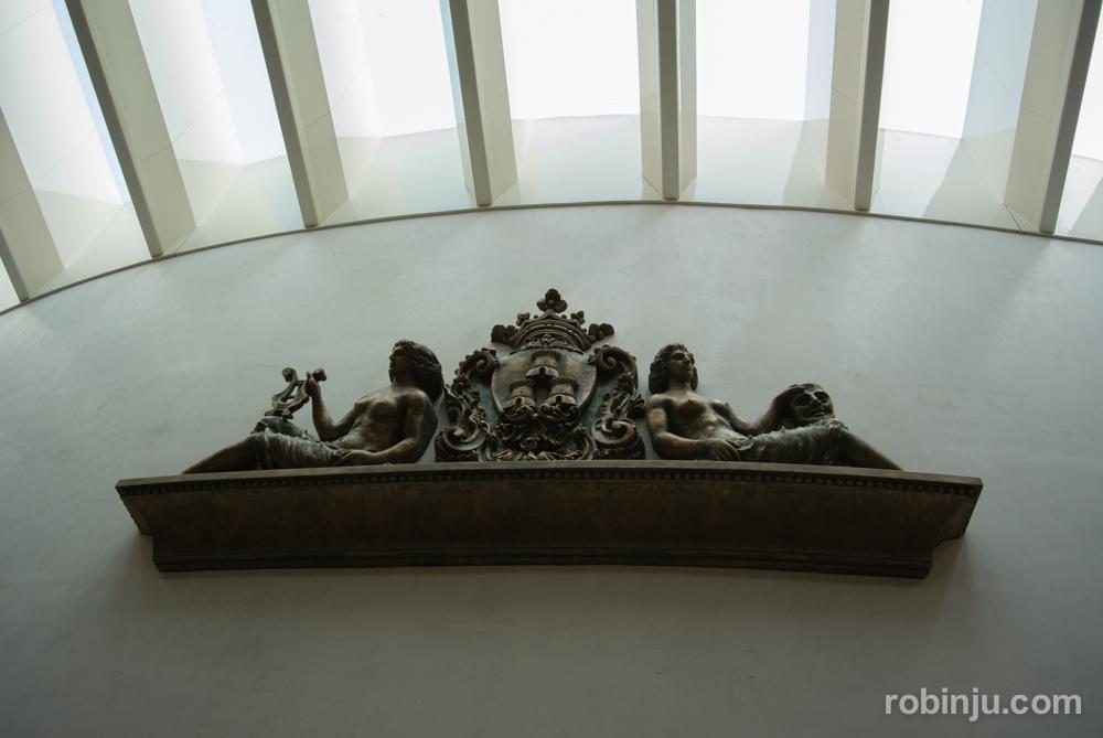 Detalle en el hall principal.