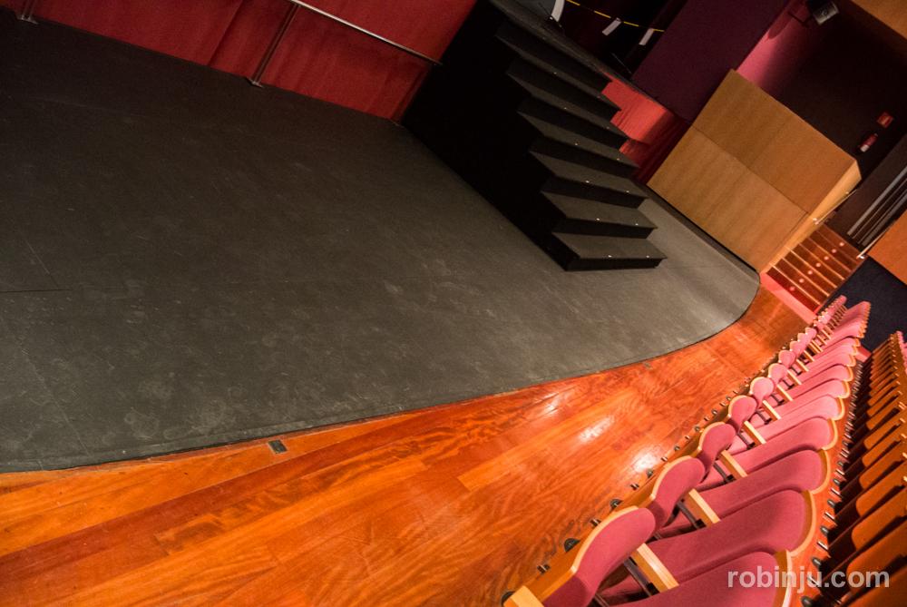 Engranaje del escenario del Teatro Circo de Albacete.